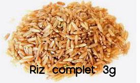 riz complet 3g