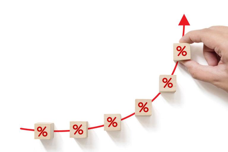 Concept de taux d'intérêt financier et hypothécaire