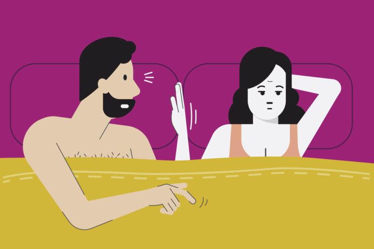 couple qui se dispute dans le lit