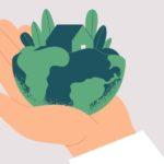 Dessin Main Qui Tient La Terre Avec Une Maison Ecologie
