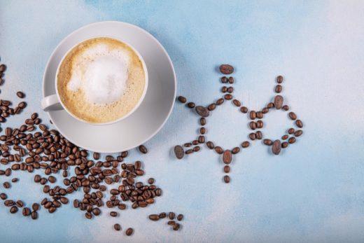 tasse de café avec grain
